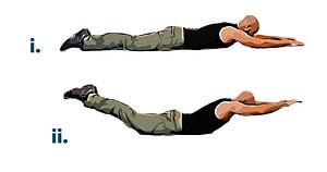 Bodyweight workout superman