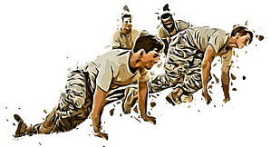 Soldiers crawling bodyweight fitness functional