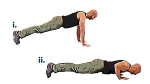 Bodyweight workout push up