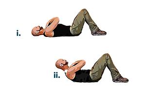 Bodyweight workout crunch