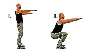 Bodyweight workout squat