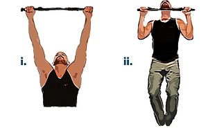 Bodyweight workout pull up