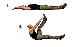 Bodyweight workout alt v-sit