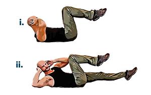 Bodyweight workout airbike