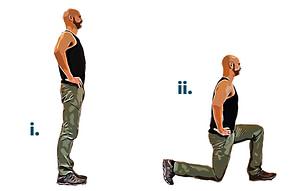 Bodyweight workout lunge