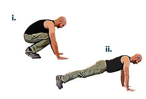 Bodyweight workout squat thrust