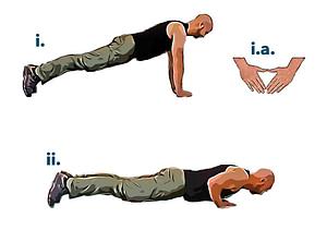 Bodyweight workout close push up