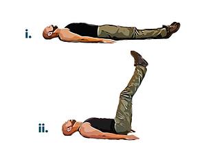Bodyweight workout leg raise
