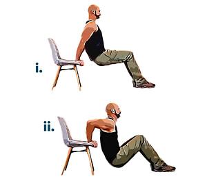 Bodyweight workout dip