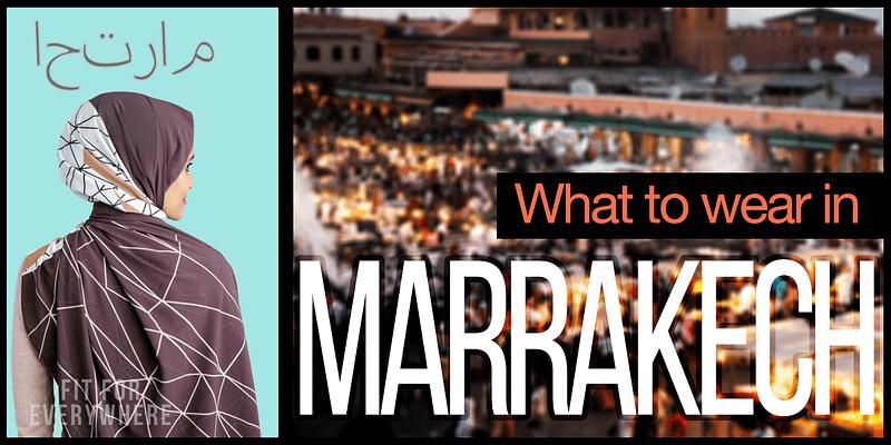 Safe Marrakech Travel Safety Arab Dress Clothes Wear