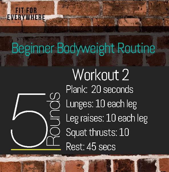 Beginner Workout Home Fitness No Equipment