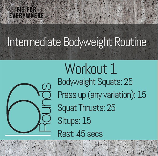Intermediate Workout Routine Home Fitness No Equipment